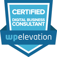 WP Elevation - Certified Digital Business Consultant badge